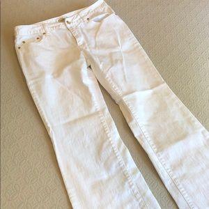 Talbots Petites Stretch White Jeans